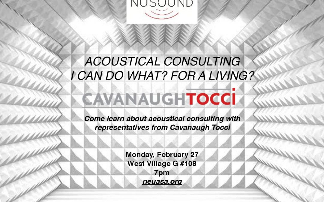 Acoustic Consulting & Careers with Cavanaugh & Tocci